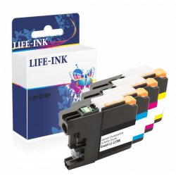 Life-Ink XL Multipack ersetzt LC-123, LC123, LC-121,...
