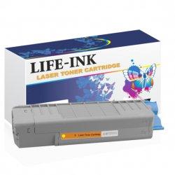 Life-Ink Toner ersetzt OKI 46507505, C612 für Oki Drucker...