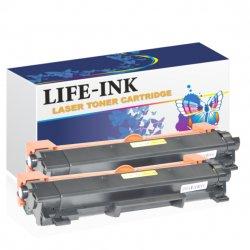 Life-Ink Toner 2er Set ersetzt TN-2420 für Brother schwarz