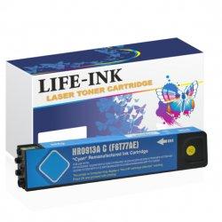 Life-Ink Druckerpatrone ersetzt HP F6T77AE, 913A cyan