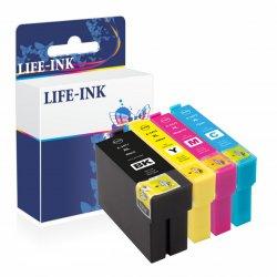 Life-Ink Druckerpatronen 4er Set ersetzt Epson 34, 34XL