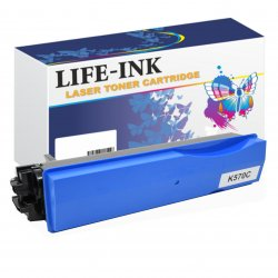 Life-Ink Toner ersetzt Kyocera TK-570C, 1T02HGCEU0 für...