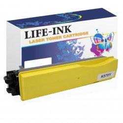Life-Ink Toner ersetzt Kyocera TK-570Y, 1T02HGAEU0 für...