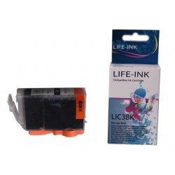 Life-Ink Druckerpatrone ersetzt BCI-3EBK für Canon...