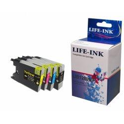Life-Ink Multipack ersetzt LC-1280 für Brother Drucker 4...